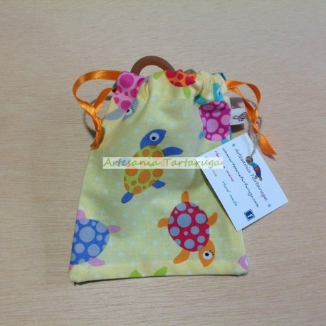 Pacifier bag with turtles