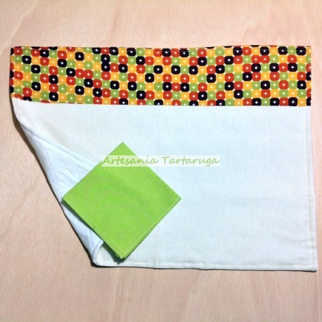 Save tablecloth with yellow checkered