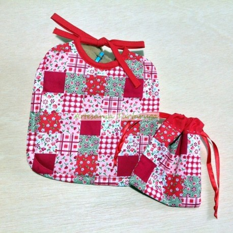 Newborn bib and pacifier bag