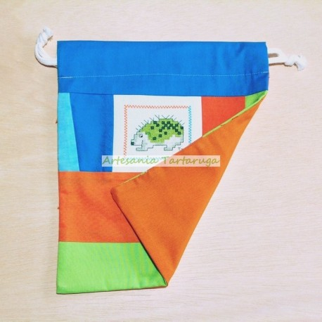 Snack bag with cross stich