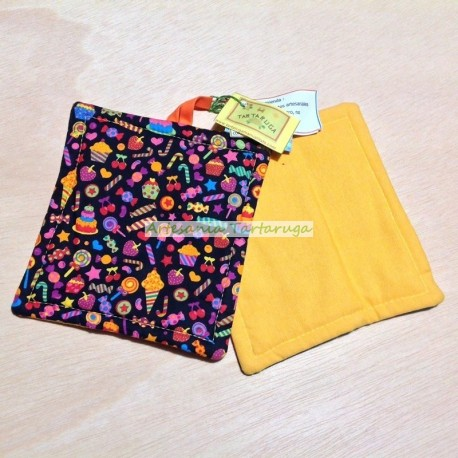 Potholders with candies