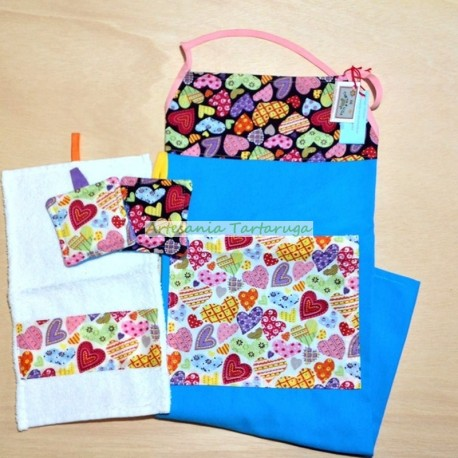 Children's apron, dishcloth and potholders to play