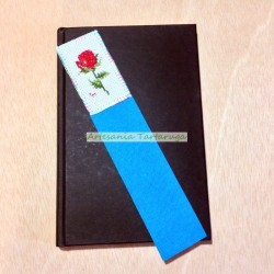 Original Bookmarks with cross stich rose