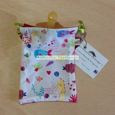 Pacifier bag with sea animals