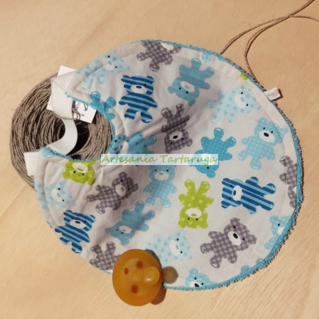 Handmade medium bib with elastic band