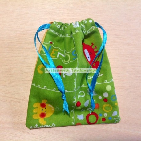 Handmade plasticized bag for the toothbrush