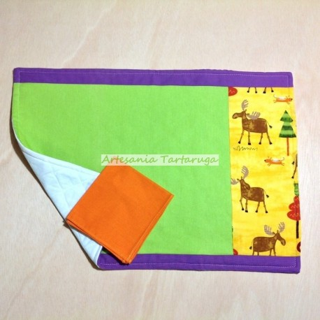 Save tablecloth with reindeer