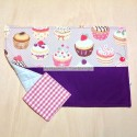 Save tablecloth with cupcakes