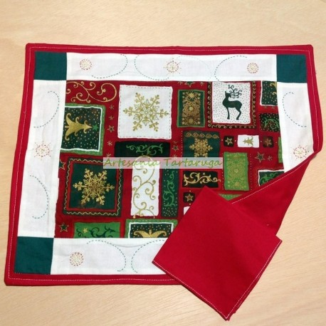 Christmas patchwork save tablecloth