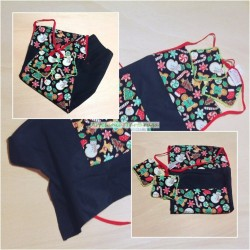 Children's apron and potholders to play