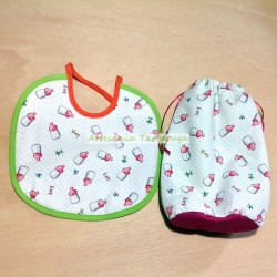 Newborn bib and bag