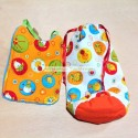 Newborn bib and bag with animals