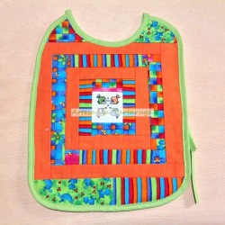 Large bib patchwork and cross stich