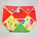 Handmade patchwork snack bag with cats