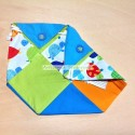 Handmade patchwork snack bag with turtles