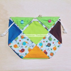 Handmade patchwork snack bag