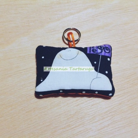 Handamde KeyChain whith Halloween ghost