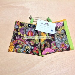 Potholders with colorful owls