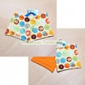 Potholders with colorful donuts