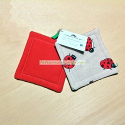 Potholders with ladybugs