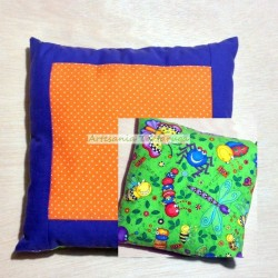 Pillow with bugs