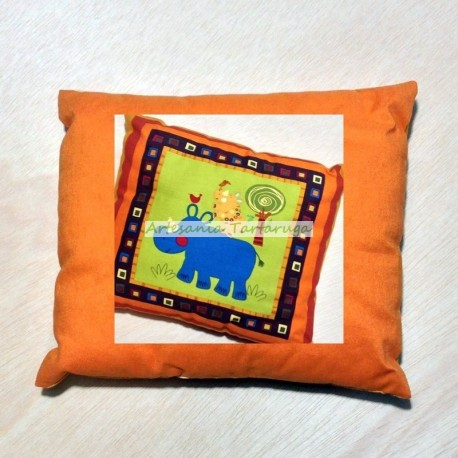 Pillow with rhino