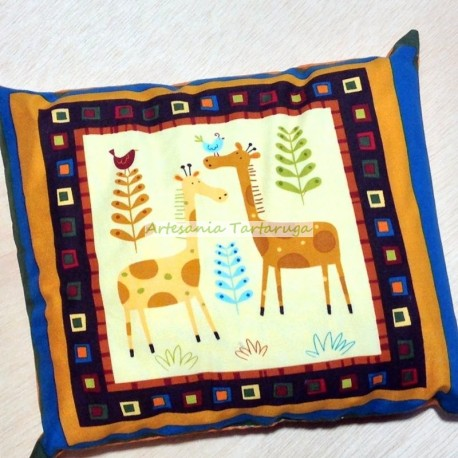 Pillow with giraffes