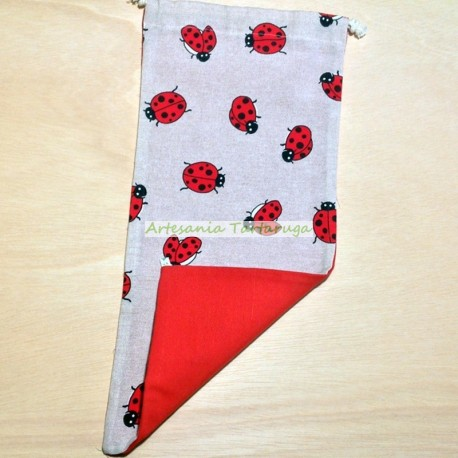 Bread bag with ladybugs