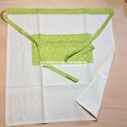Apron with flowers