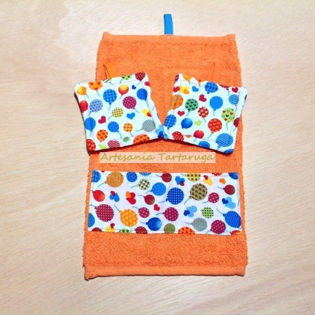 Dishcloth and potholders for children