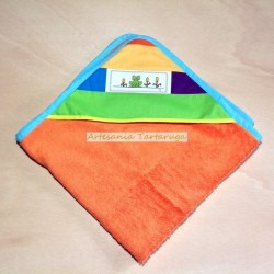 Baby hooded towel with cross stich