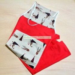Christmas canvas handmade apron