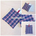 Potholders with colorful checkered