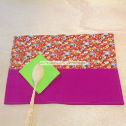 Handmade save tablecloth with flowers