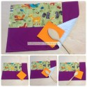 Handmade save tablecloth fabric with autum print