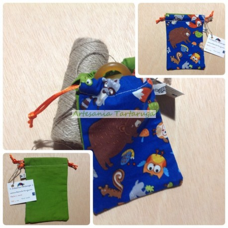 Pacifier bag with sea bottles