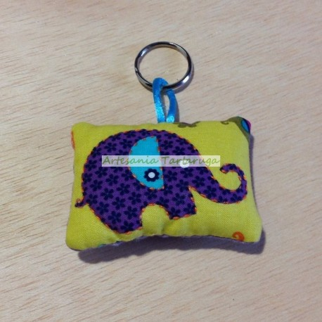 Handmade keychain with elephant