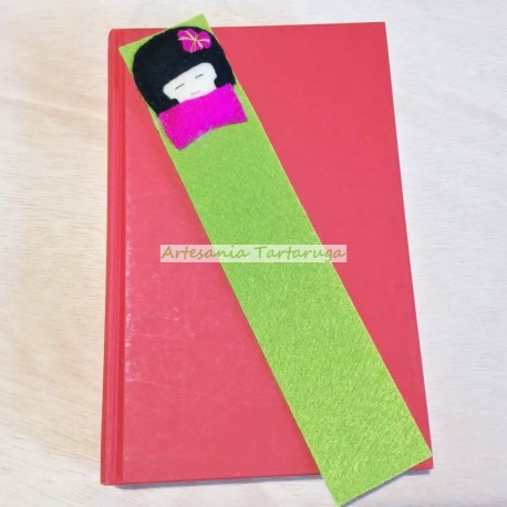 Handmade bookmarks with felt