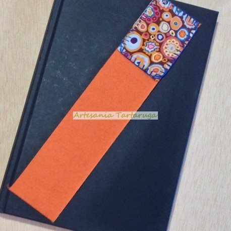 Original bookmarks with printed fabric