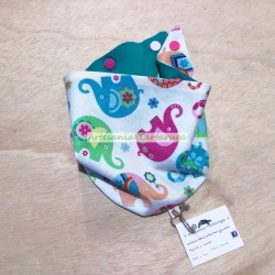 Baby bandana bib for the child