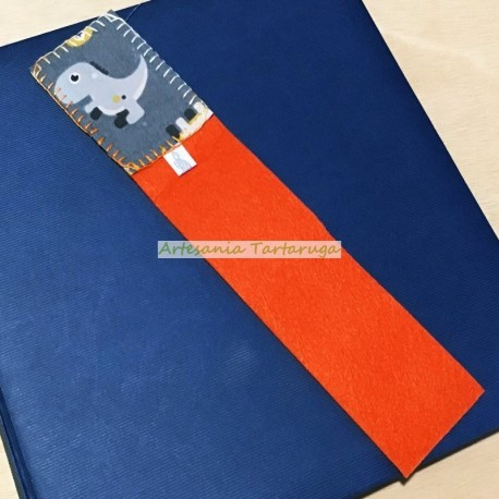 Bookmarks printed fabric with animals