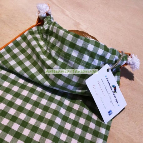 Handmade Checkered bread bag
