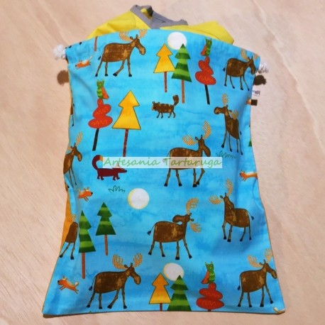 Handmade laundry bag
