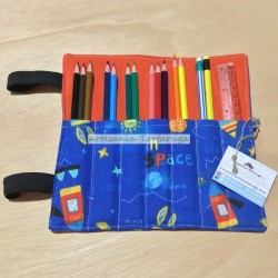 Handmade folding pencil case