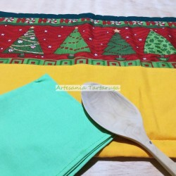 Handmade Christmas save tablecloth