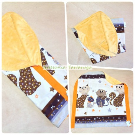 Handmade lullaby baby with cats family