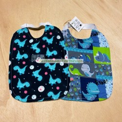 Large bibs with plastic towel and elastic band