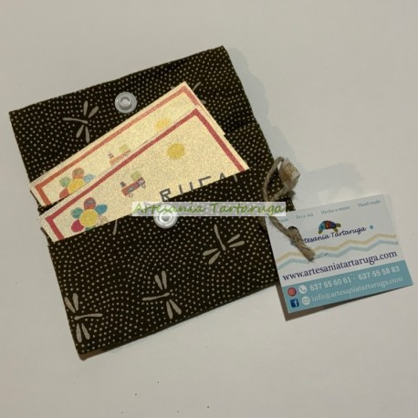 Handmade fabric card holder