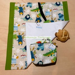 Portable travel changer and toilet bag for baby