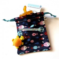 Pacifier bag with colorful fish